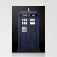 Tardis front Stationery Cards