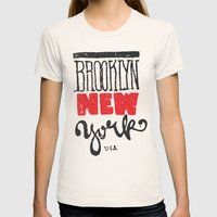 Brooklyn New York Womens Fitted Tee Natural SMALL