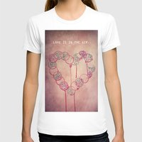 Love is in the air.. Womens Fitted Tee White SMALL