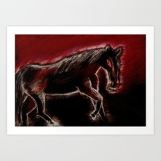 Phantom horse Art Print
