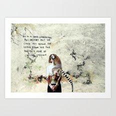 Mrs Belfort Art Print