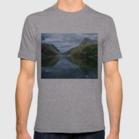 Rondane - Rondevannet  Norway Mens Fitted Tee Athletic Grey SMALL