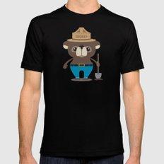 Smokey Bear Mens Fitted Tee Black SMALL