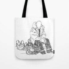 Just Sitting Down Tote Bag