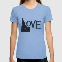 Love, Idaho. Womens Fitted Tee Athletic Blue SMALL