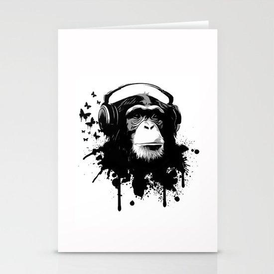Monkey Business - White Stationery Card