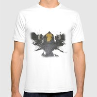 Angry Eagle Mens Fitted Tee White SMALL