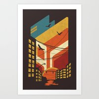 street art Art Prints featuring Street by The Child