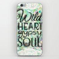 Wild Heart, Gypsy Soul iPhone & iPod Skin