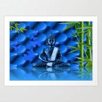 Water Buddha Art Print