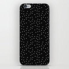 Pin Point Polka White on Black Repeat iPhone & iPod Skin