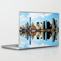 new york Laptop & iPad Skins featuring New York New York by haroulita