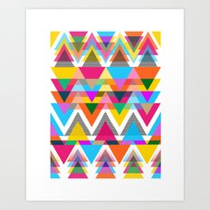 Triangles, Shapes, Colors, Oh My! Art Print