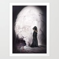 Death Claims the Godhead Art Print