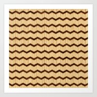 Wooden Chevron Art Print