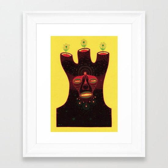 b e i n g  Framed Art Print