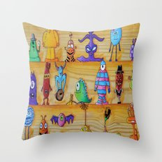 Creatch: First Impressio… Throw Pillow