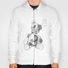 Steampunk Steam punk Teddy Bear Original pen and ink design guns gears gas mask mechanical heart Hoody