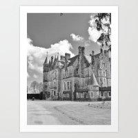 Castle B&W Art Print