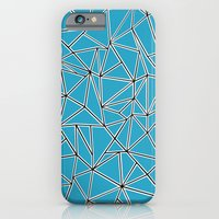 iPhone & iPod Case featuring Shattered Ab Blue by Project M