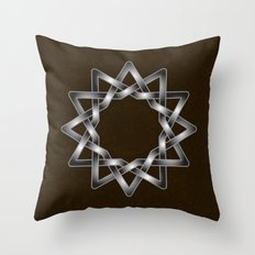 Elegant Celtic star design on texture Throw Pillow