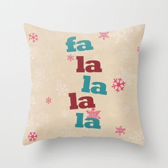 fa la la la la Throw Pillow