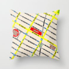 New York map design - empire state building area Throw Pillow