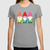 BFF Gnomes I Womens Fitted Tee Tri-Grey SMALL