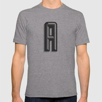 Letter A Mens Fitted Tee Athletic Grey SMALL