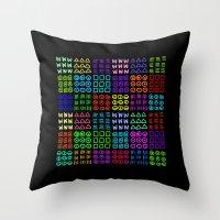 Aztec Wannabe (Black) Throw Pillow
