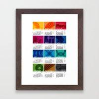 2013 Pigment to Pantone Calendar Framed Art Print