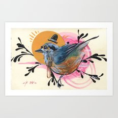 Dapper Bird Art Print