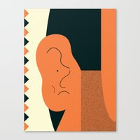 Angry talking makes the ear cranky Canvas Print