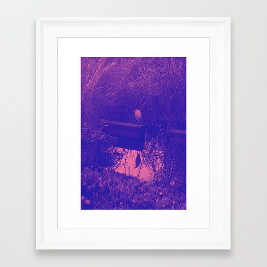 in the reeds Framed Art Print