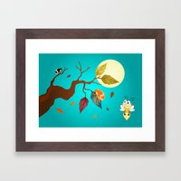 Fall Down  Framed Art Print