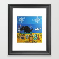 SK8 Surreal Framed Art Print