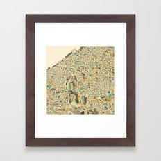 CLEVELAND MAP Framed Art Print