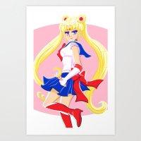 Pretty Soldier Sailor Moon Art Print