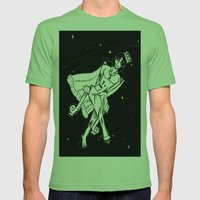 Space Queen Mens Fitted Tee Grass SMALL