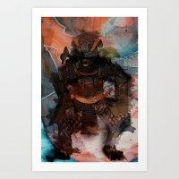Samurai's Despair Art Print