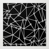 Abstract Heart Zoom Black Canvas Print