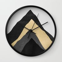 Four Mountains Wall Clock