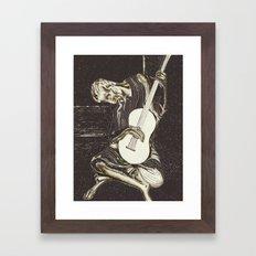 The New Old Guitarist (part 2) Framed Art Print