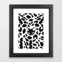 Kitty Shapes Framed Art Print