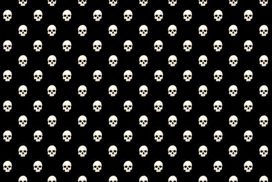White Skulls on Black Art Print