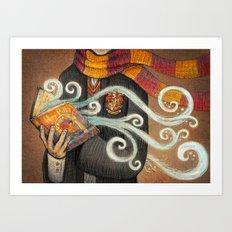 Books magic Art Print