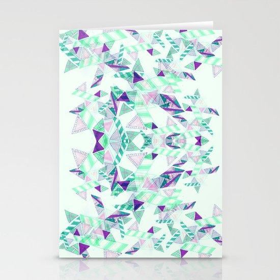 Kaleidoscopic print illustration  Stationery Card