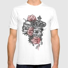 King Mens Fitted Tee SMALL White