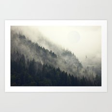Forest Moon Art Print