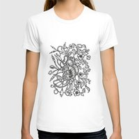 Electro Love Womens Fitted Tee White SMALL